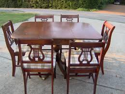 Lyre Back Chairs History by Mahogany Duncan Phyfe Dining Table W Lyre Back Chairs Antique