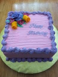 Simple Pink & Purple Birthday Cake