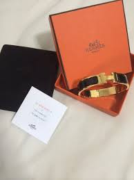 brand new hermes clic clac black and gold