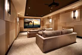 home design home theater d礬cor ideas with accent wall and wall