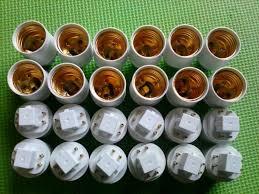 100pcs lot 4 pins g24q to e26 l socket adapter g24 to e27 l