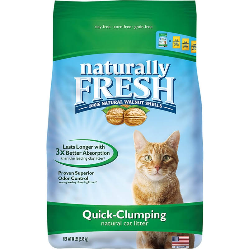 Naturally Fresh Quick Clumping Cat Litter - Natural Walnut Shells, 26lb