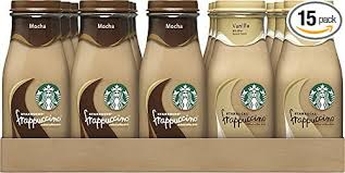Starbucks Frappuccino Drinks Mocha And Vanilla Flavors 95 Ounce Glass Bottles 15 Amazon Grocery Gourmet Food