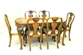 Queen Anne Cherry Dining Table Room Set Antique