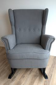 Poang Rocking Chair For Nursing by Ikea Hack Strandmon Rocker Diy Wingback Rocking Chair Rockers