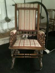 Late Victorian American Style Rocking Chair | 469523 ... Antique Walnut Chairs Queen Anne 7 Ding Scotland Style Wing Chair Frame English Pair Of Mahogany Crook Armchairs Century Rocking For Master Small Armless Bean Seat Replacement And Painted Finish Style Carver Chair Dark Blue Shabby Chic Rustic Fniture Room Design What Is How Do You Spot It Splat Back W Cream Loveseat Edwardian Mahogany Desk Hingstons Antiques Dealers Legs Set Desk