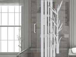 details zu glasdekor folie fensterdekor für badezimmer bambus streifen pflanzen