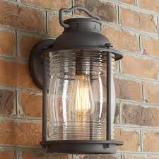 seeded glass jar outdoor sconce large glass outdoor lighting