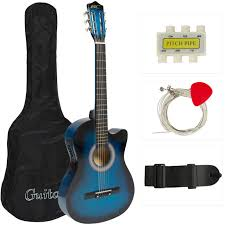 Best Choice Products 38in Beginners Acoustic Electric Cutaway Guitar W/  Case, Extra Strings, Strap, Tuner, Pick - Blue Lu Van Guitar Pick Stacking Tables Vintage Mid Century Nesting Table Tables Picked Century Inc Stacking Stools Custom Boomerang And By Glessboards Custmadecom Reuleaux Triangle Guitar Pick Tikijohn On Deviantart Danish Modern Triangle Table Coffee Accent Craft Phil Powell Side 1stdibs Fan Faves Fniture Contemporary Shape Set A Pair 3piece Exclave Teardrop And Herman Miller