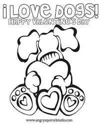I LOVE Dogs Free Valentines Day Printable Coloring Sheet