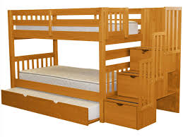 Pet Stairs For Tall Beds by Bedz King Stairway Bunk Bed Twin Over Twin And Twin Trundle In