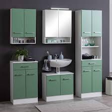 2 türiger schrank fürs bad in grün weiß loenixa