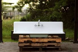 Old Kitchen Sinks With Drainboards by The Search For A Vintage Farmhouse Sink Domestic Imperfection