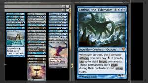 mtg edh commander lorthos the tidemaker deck tech youtube