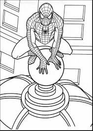 Incredible Spider Man Coloring Pages Print Out With Free Spiderman And