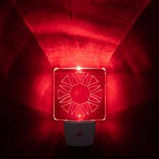 biorhythm safe led nachtlicht für schlafzimmer und badezimmer rot 2 stück