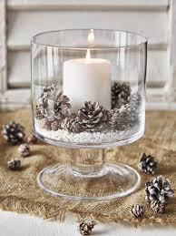 25 Budget Friendly Rustic Winter Pinecone Wedding Ideas Table DecorationsTable Centerpieces For ChristmasRustic Candle