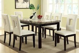 Marble Dining Room Table Round Sets Solid Black