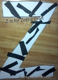 Letter Z Zebra Letter Z Crafts For Preschool Google Search Zebra