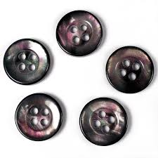 mother of pearl effect plastic small round 4 hole shirt buttons