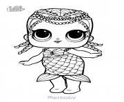 Printable Mermaid LOL Surprise Doll Merbaby Coloring Pages