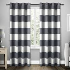 100 Residence Curtains ATI Home Santa Monica Striped Curtain Panel Pair With Grommet Top