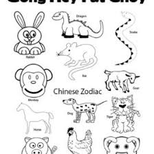 Chinese Zodiac Coloring Pages AZ
