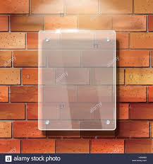 Modern 3D Vector Blank Glass Frame On Red Brick Wall Stock With Best And Newest