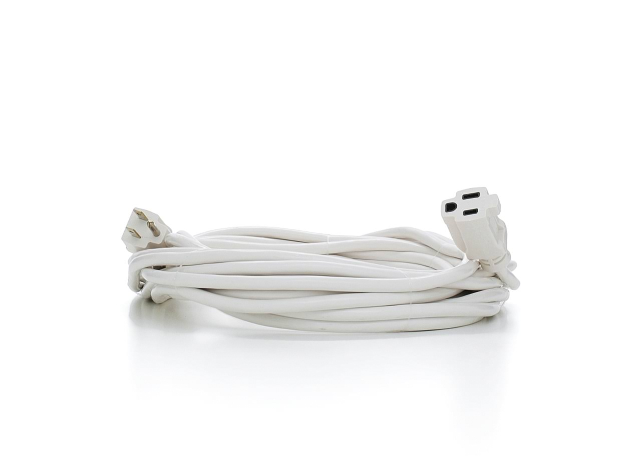 Prime Wire & Cable Patio & Deck Extension Cord - White, 35'