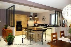 cuisine ouverte sur salle a manger deco cuisine salle a manger meuble separation cuisine salle a manger