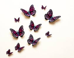 3D Wall Art butterflies dragons & more for by hipandclavicle