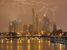 Lighting Storm On Frankfurt Germany