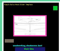 balsa wood glider template 220149 woodworking plans and projects