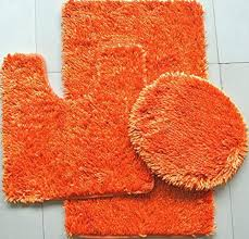 Orange Bath Rugs Mats Mats The Home Depot Orange Bath Rug Set