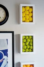 Colorful Kitchen Wall Art With Fake Fruits Fruit DecorColorful