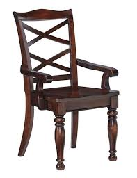 Porter Rustic Brown Dining Room Arm Chair Image 1