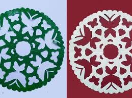 Design Paper Cutting Modern Snowflake Butterfly Designs Indian