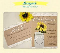 New Rustic Sunflower Wedding Invitations For Mason Jar Invitation 81