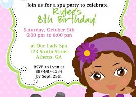 Free Printable Pamper Party Invitation Templates