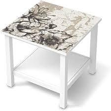 creatisto möbel klebefolie passend für ikea hemnes beistelltisch 55x55 cm i möbelsticker möbel aufkleber folie i wohndeko für wohnzimmer und