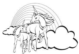 12 Unicorn Rainbow Coloring Pages 5972 Via Freecoloringpagescouk