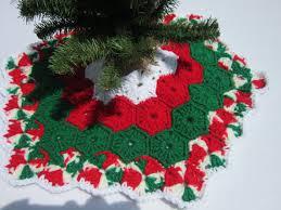 Crochet Mini Christmas Tree Skirt By Crochetedbycharlene On Etsy 2200