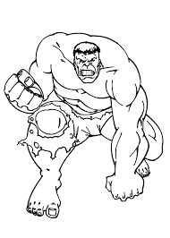 Hulk Coloring Pages For Kids Printable Free Within The