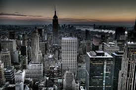 Gotham City Background New York Skyline Wallpaper HDR By Kaldoon Via Flickr