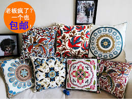 18 Rustic Style Decorative Throw Pillows Flower High Quality Embroidery Cushions Home Decoration In Cushion From Garden On Aliexpress