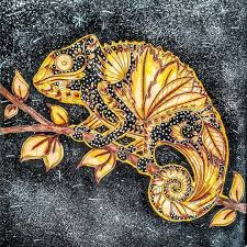 Adult Coloring Books Chameleon Johanna Basford Drawing Tips Animal Kingdom Zentangle Elephants Doodles