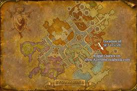 Wow Brackwell Pumpkin Patch Map by Alliance Rogue Level 10 Quests The Azeroth Cookbook