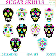 Easy Sugar Skull Day Of by Day Of The Dead Skull Clipart Clip Art Sugar Skulls Clipart