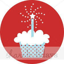 happy birthday red cupcake clipart
