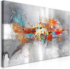 decomonkey bilder abstrakt 120x60 cm 1 teilig leinwandbilder bild auf leinwand vlies wandbild kunstdruck wanddeko wand wohnzimmer wanddekoration deko
